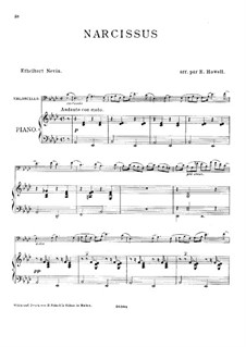 Water Scenes, Op.13: Nr.4 Narzisse, für Cello und Klavier by Ethelbert Woodbridge Nevin