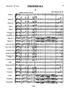 Sinfonie Nr.2 'Die vier Temperamente', FS 29 Op.16: Teil I by Carl Nielsen