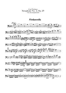 Sinfonie Nr.4 'Das Unauslöschliche', FS 76 Op.29: Cellostimme by Carl Nielsen