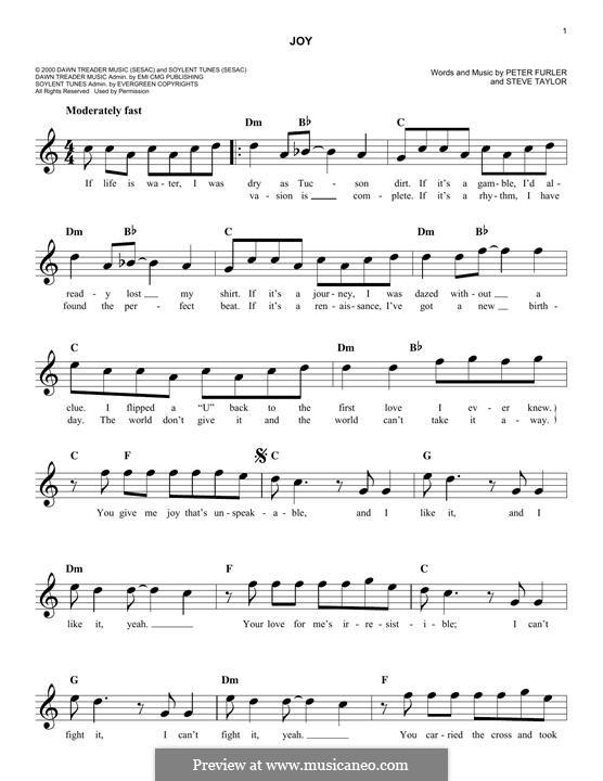 Joy: Melodische Linie by Steve Taylor