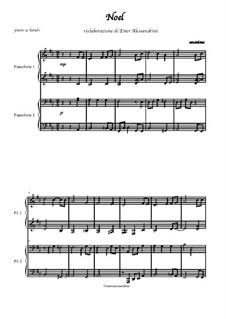 Noel: Für Klavier, vierhändig by folklore