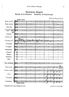 Harlekins Reigen, BV 266 Op.46: Harlekins Reigen by Ferruccio Busoni