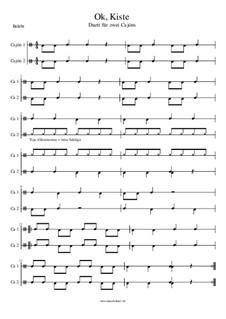 Ok, Kiste - Duett für Cajon: Ok, Kiste - Duett für Cajon by Manu Holmer