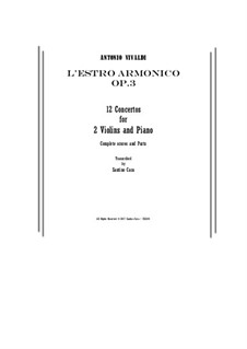 Zwölf Konzerte: Score and parts by Antonio Vivaldi