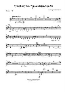 Teil II: Horn in F 2 (transposed part) by Ludwig van Beethoven