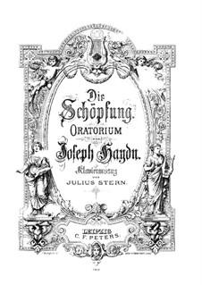 Die Schöpfung, Hob.XXI/2: Klavierauszug mit Singstimmen by Joseph Haydn