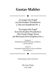 Sinfonie No.3 in d-Moll: Movement V. Version C for SSAA chorus by Gustav Mahler