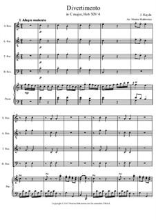 Divertisment C-Dur, Hob.XIV:4: Divertisment C-Dur by Joseph Haydn