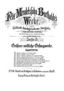 Oedipus in Kolonos, Op.93: Introduktion, Nr.1-3 by Felix Mendelssohn-Bartholdy