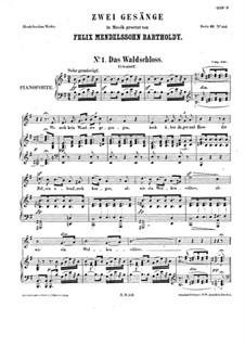 Zwei Lieder, WoO 17: Klavierauszug mit Singstimmen by Felix Mendelssohn-Bartholdy