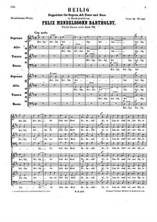 Heilig, WoO 27: Heilig by Felix Mendelssohn-Bartholdy