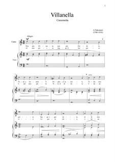 Villanella: For voice and piano (G-dur) by Andrea Falconieri