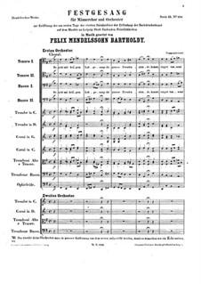 Festgesang, WoO 9: Festgesang by Felix Mendelssohn-Bartholdy