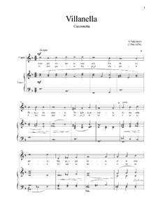 Villanella: For voice and piano (F-dur) by Andrea Falconieri