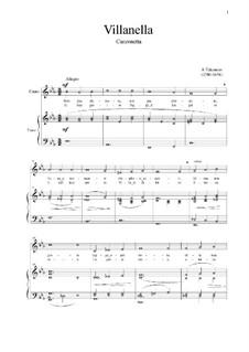 Villanella: For voice and piano (Es-dur) by Andrea Falconieri