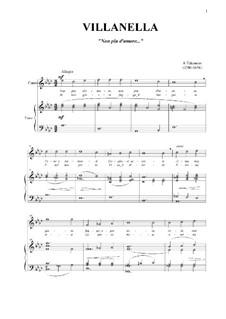 Villanella: For voice and piano (As-dur) by Andrea Falconieri