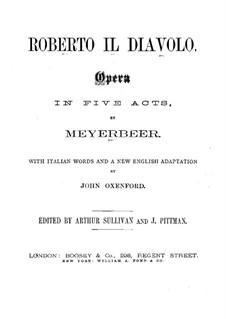 Robert der Teufel: Akt I by Giacomo Meyerbeer