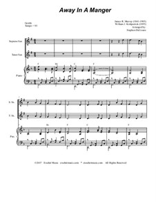 Away in a Manger: For soprano, tenor saxophone and piano by James R. Murray