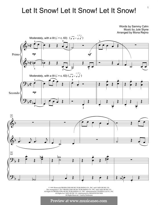 Let It Snow! Let It Snow! Let It Snow!, for Piano: Für einen Interpreten by Jule Styne