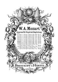 Kirchensonate für zwei Violinen, Orgel und Basso Continuo Nr.10 in F-Dur, K.244: Vollpartitur by Wolfgang Amadeus Mozart