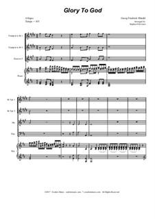 Nr.17 Ehre sei dir Gott in der Höhe: Für Blechblasquartett by Georg Friedrich Händel