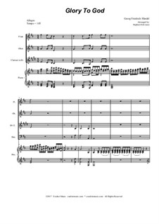 Nr.17 Ehre sei dir Gott in der Höhe: For woodwind quartet by Georg Friedrich Händel