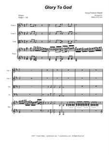 Nr.17 Ehre sei dir Gott in der Höhe: Für Streichquartett by Georg Friedrich Händel