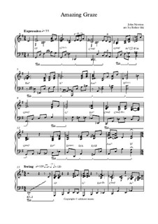 Amazing Grace, for Piano: Jazz reharmonised by folklore