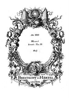 Kirchensonate für zwei Violinen, Orgel und Basso Continuo Nr.15 in C-Dur, K.328 (317c): Basso Continuo Stimme by Wolfgang Amadeus Mozart