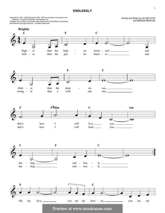 Endlessly: Melodische Linie by Clyde Otis