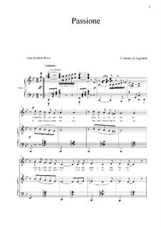 Passione: For voice and piano (g-moll) by Ernesto Tagliaferri, Antonio Valente