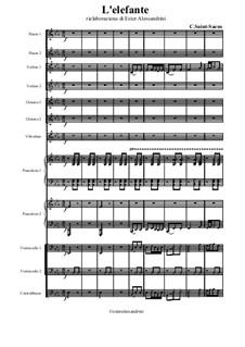 Der Elefant: For large ensemble by Camille Saint-Saëns