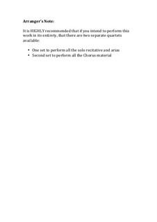 Fragmente: Part 1, for brass ensemble (full score and parts) by Georg Friedrich Händel