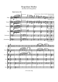 Neapolitan Medley: For flute and string quintet by Ernesto de Curtis, Salvatore Cardillo, Teodoro Cottrau