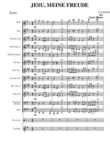 Jesu, meine Freude, BWV 610: For concert band by Johann Sebastian Bach