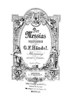 Vollständiger Oratorium: Klavierauszug mit Singstimmen by Georg Friedrich Händel