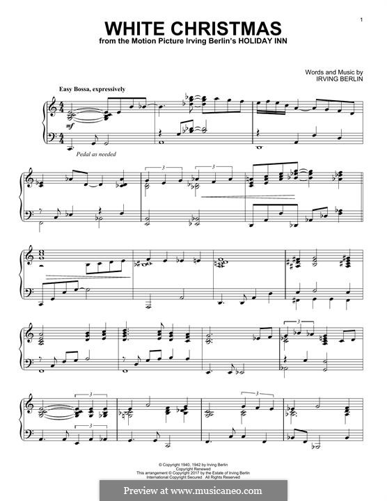 White Christmas, for Piano: Für einen Interpreten by Irving Berlin