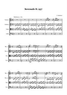 Nr.4 Ständchen: For string quartet (or string orchestra) by Franz Schubert
