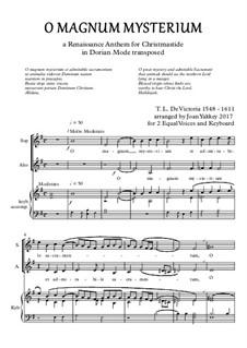 O Magnum Mysterium: For two voices by Tomás Luis de Victoria