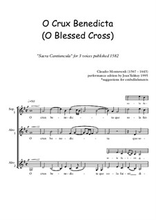 O Crux Benedicta: SAA voices by Claudio Monteverdi