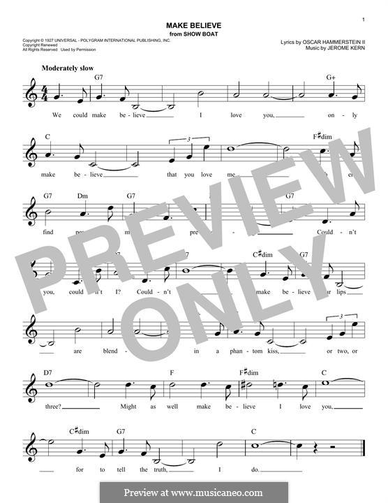 Make Believe: Melodische Linie by Jerome Kern
