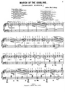 Kobolden Marsche: Für Klavier by Julie Rivé-King
