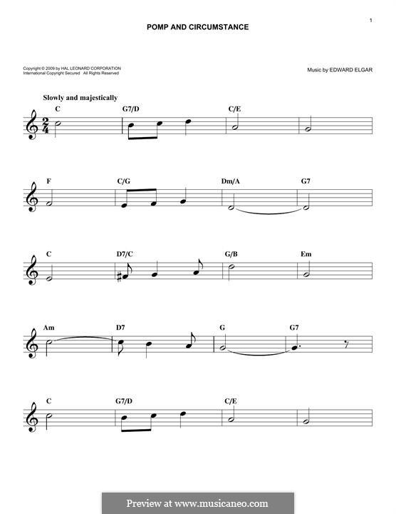 Pomp and Circumstance: Melodische Linie by Edward Elgar