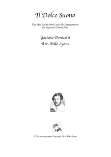 Lucia di Lammermoor: The Mad Scene, for soprano cornet solo by Gaetano Donizetti