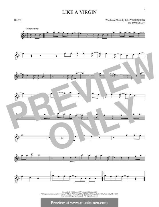 Like a Virgin (Madonna): Für Flöte by Billy Steinberg, Tom Kelly
