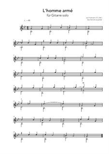 L'homme armé: G-Minor by Unknown (works before 1850)