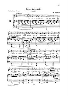 Lieder und Gesänge, Op.127: No.2 Dein Angesicht (Thy Lovely Face), for voice and piano by Robert Schumann