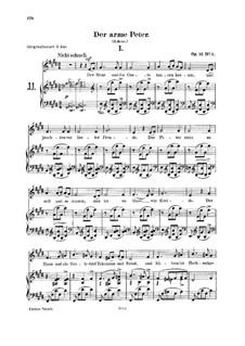 Romanzen und Balladen, Op.53: No.3 Der arme Peter (Poor Peter) by Robert Schumann