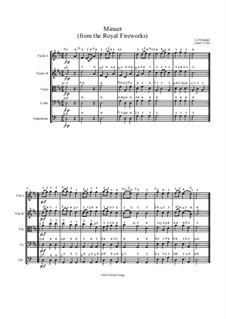 Feuerwerksmusik, HWV 351: Minuet No.2, for string orchestra by Georg Friedrich Händel