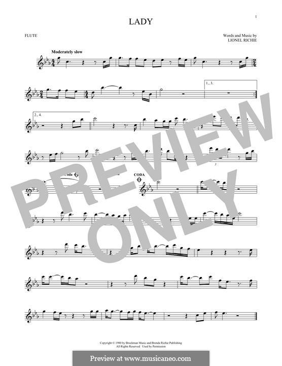 Lady: Für Flöte by Lionel Richie